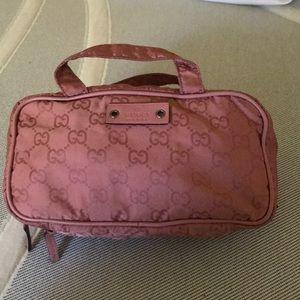Gucci pink toiletries bag